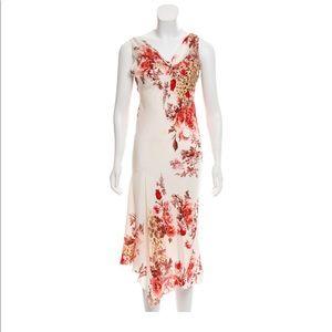 Roberto Cavalli silk low back dress
